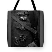 German Soldier Ww2 Black And White Tote Bag