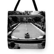Getty Villa Massive Pool Black White Landscape  Tote Bag