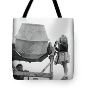 Girl At The Helm Tote Bag by Jeremy Holton