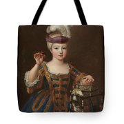 'girl With A Bird Cage'. Ca. 1712. Oil On Canvas. Tote Bag