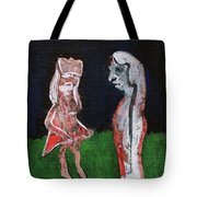 Girls In A Park Tote Bag