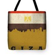 Giza Egypt World City Flag Skyline Tote Bag