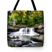 Glade Creek Grist Mill Waterfall Tote Bag