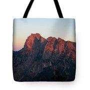 Glowing Mountains Tote Bag