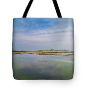 Goat Island Distant View Maine Tote Bag