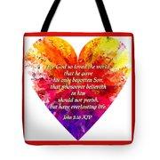 God's Heart Tote Bag