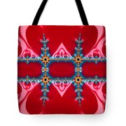 Gods Love And Mercy Is Infinite Fractal Abstract Hearts Tote Bag by Rose Santuci-Sofranko