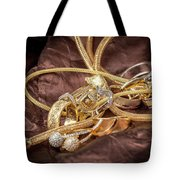 Gold Jewelry Close Up Tote Bag