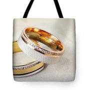 Gold Wedding Ring  Tote Bag