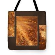 Wings Of Gold Brown Bckgrnd Tote Bag