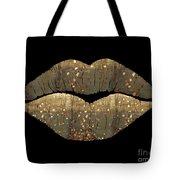 Golden Dreams Fantasy Lips Fashion Art Tote Bag