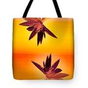 Golden Duo Water Lilies Tote Bag