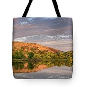 Golden Hour Contemplation At Moss Lake - Enchanted Rock Fredericksburg Texas Hill Country Tote Bag