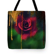 Golden Moments Of A Garden Rose Tote Bag