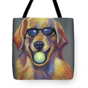 Golden With Ball Tote Bag