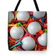 Golf Balls And Colorful Tees Tote Bag