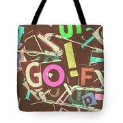 Golfing Print Press Tote Bag