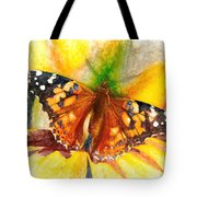 Gorgeous Painted Lady Butterfly Tote Bag by Don Northup