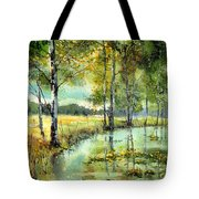 Gorgeous Water Lilies Bloom Tote Bag
