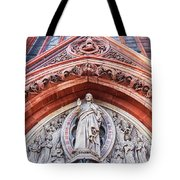 Gothic Relief Sculpture On Church Tote Bag by Ariadna De Raadt