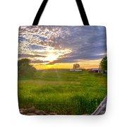 Gouveia Vineyard At Sunset  Tote Bag