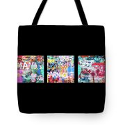 Graffitis Triptych Tote Bag