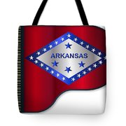 Grand Piano Arkansas Flag Tote Bag