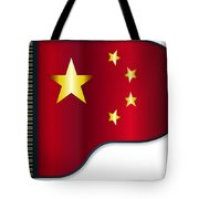 Grand Piano Chinese Flag Tote Bag