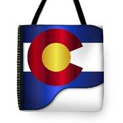 Grand Piano Colorado Flag Tote Bag