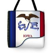 Grand Piano Iowa Flag Tote Bag