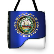 Grand Piano New Hampshire Flag Tote Bag