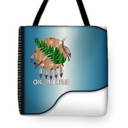 Grand Piano Oklahoma Flag Tote Bag