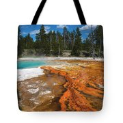 Grand Prismatic Spring Tote Bag by Mae Wertz