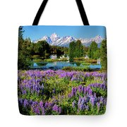 Grand Teton Lovely Lupines Tote Bag by Greg Norrell