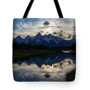 Grand Teton Sunset Tote Bag by Michael Chatt