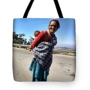 Grandchild And Grandmother Shimla Himachal Pradesh Tote Bag