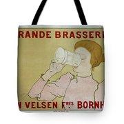 Grande Brasserie, 1894 Belgian Vintage Brewery Poster Tote Bag