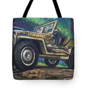 Grandpa Willie's Willys Jeep Tote Bag by Eric Dee