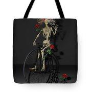 Grateful Penny Farthing Skeleton Tote Bag