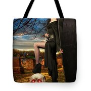 Grave Sunset Tote Bag