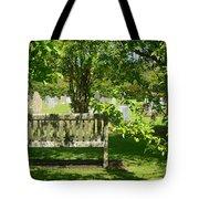 Graveyard Bench Tote Bag
