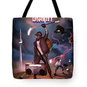 Gravity Poster Tote Bag by Nelson Garcia