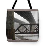 Gray Day Bridging Tote Bag