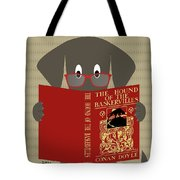 Gray Dog Reading Tote Bag by Donna Mibus