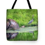 Great Blue Heron Fishing Tote Bag
