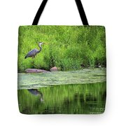 Great Blue Heron Square Tote Bag