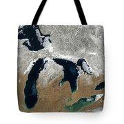 Great Lakes In Winter Tote Bag