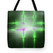 Green Aluminum Sparkling Surface. Metallic Geometric Abstract Fashion Background. Tote Bag