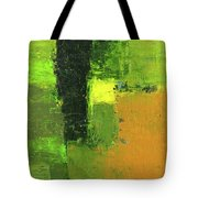 Green Envy Abstract Painting Tote Bag