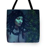 Green Eyed Medusa Tote Bag